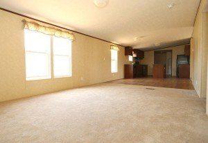 La Lone Star 3/2 casa móvil sala de estar cuarto familiar y cocina