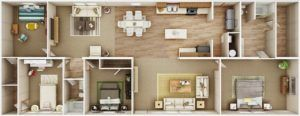TruMH Tyson Pride Mobile Home 3D Floor Plan