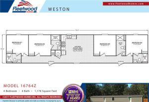 4/4 Fleetwood Weston Mobile Home Floor