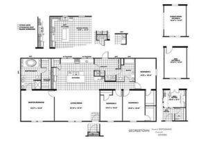 CMH Schult Georgetown Mobile Home Floor Plan