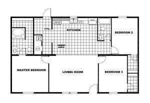 CMH Pacman 3/2 doble ancho casa plano arquitectónico
