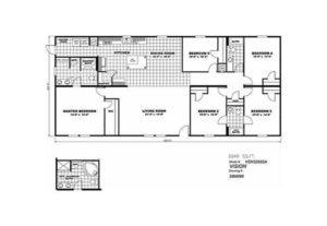 CMH King SLT32685A Mobile Home Floor Plan