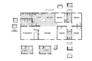 CMH King Mobile Home Floor Plan