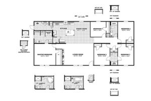 CMH King Mobile Home Floor Plan