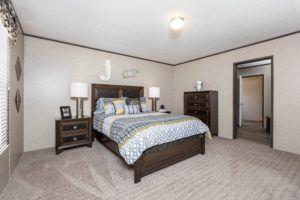 CMH King Mobile Home Master Bedroom