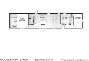 The Resolution RSV16763X Mobile Home Floor Plan