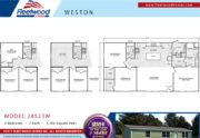 Fleetwood Weston 28523W Mobile Mobile Home Floor Plan