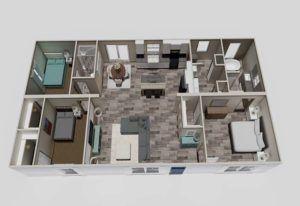 Clayton Aimee - 3D Floor Plan