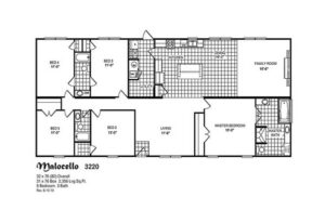 Meridian Malocello - Mobile Home - Floor Plan
