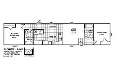 Libra Mobile Home - Floor Plan