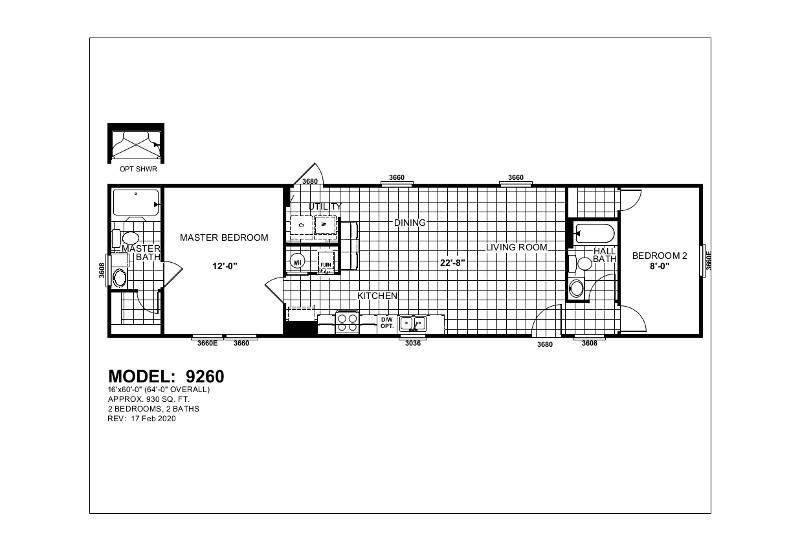 Gemini 9260 – Floor Plan