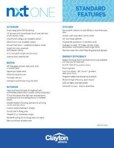 Clayton Fletcher - NXO28523A -NXT-ONE-Standard-Features