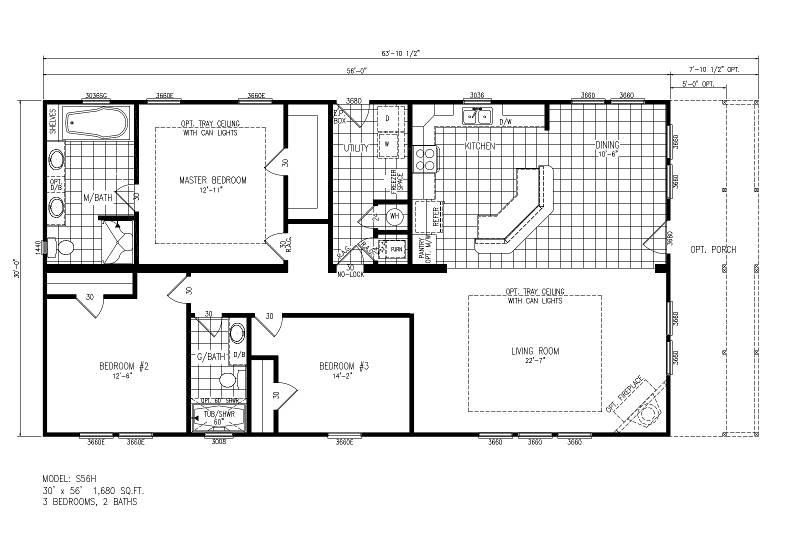 S56H – Raleigh – Floor Plan