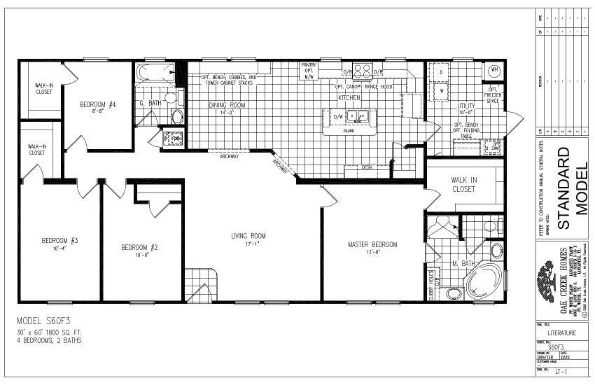 S60F3 – Lewis 60 – Floor Plan