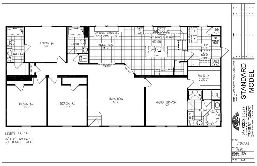 S64F3 – Lewis 64 – Floor Plan