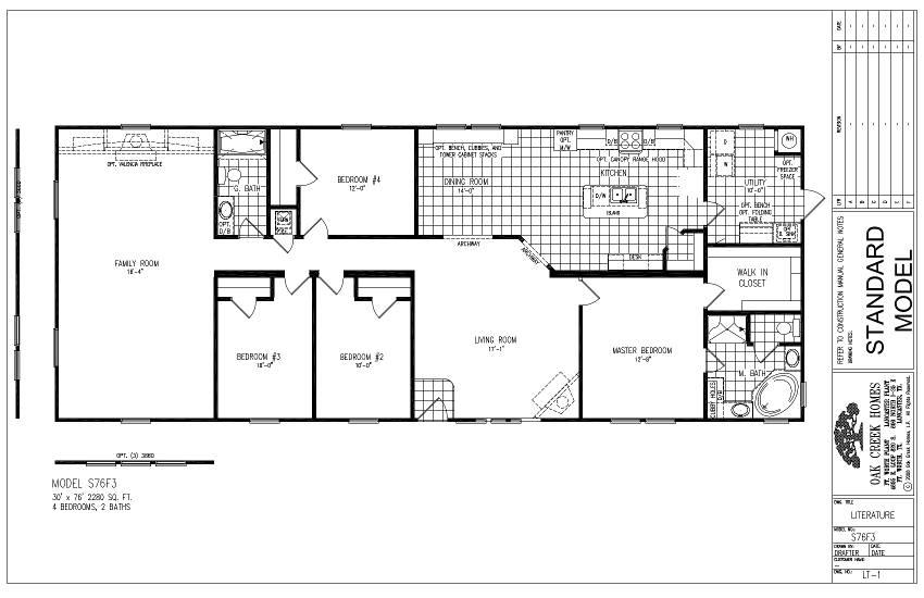 S76F3 – Lewis 76 – Floor Plan