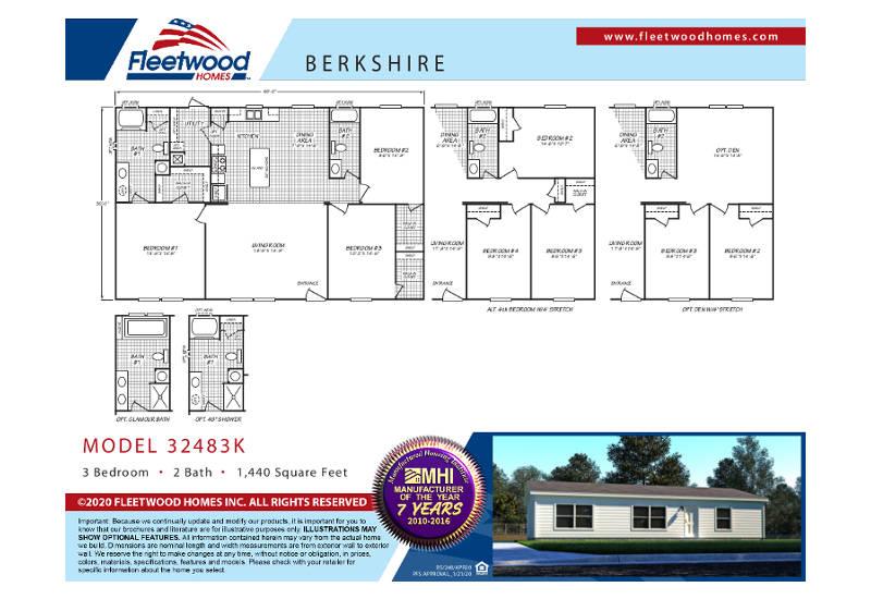 Berkshire 48K – 32483K — Floor Plan
