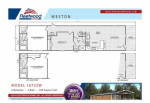 Fleetwood Weston 72 - WE16722W - FP