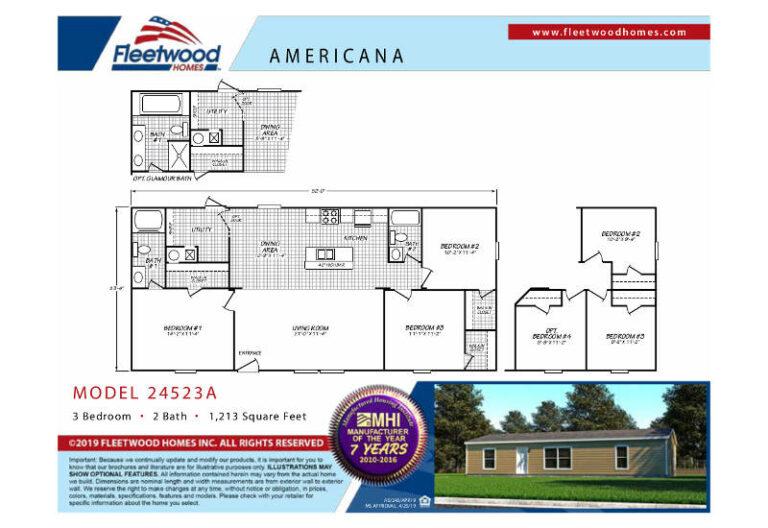 Fleetwood Americana 2452 - AE24523A
