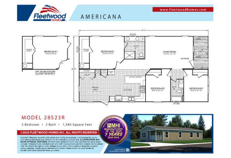 Fleetwood Americana 2852 - AE28523R